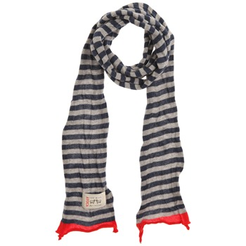 Avoca Blue/Grey/Red Stripey Cotton Scarf (on a spool)
