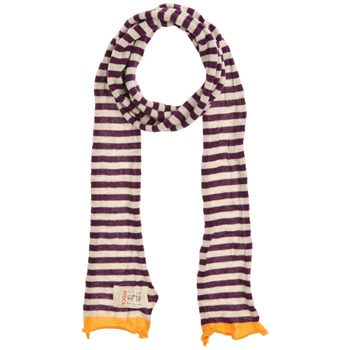 Avoca Purple/Ecru/Yellow Stripey Cotton Scarf (on a spool)