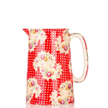 Avoca Red Antique Paisley Jug 1 Pint