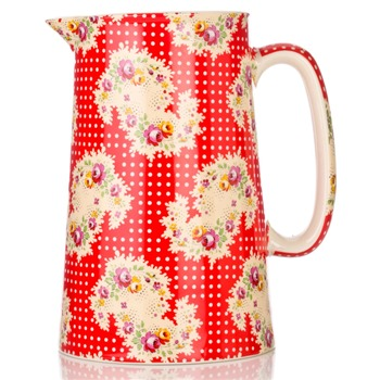 Avoca Red Antique Paisley Jug 2 Pint
