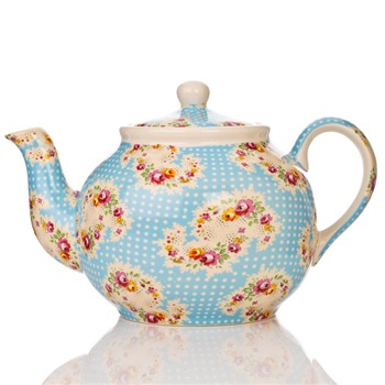 Avoca Blue Antique Paisley Six Cup Teapot