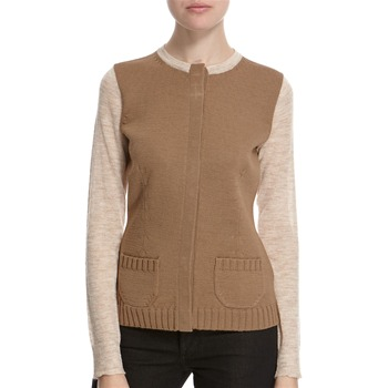 Hoss Intropia Camel Wool Blend Cardigan