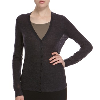 Hoss Intropia Charcoal V-Neck Alpaca/Wool Blend Cardigan