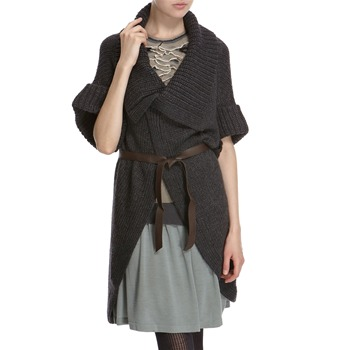 Hoss Intropia Anthracite Knit Wool Blend Cardigan