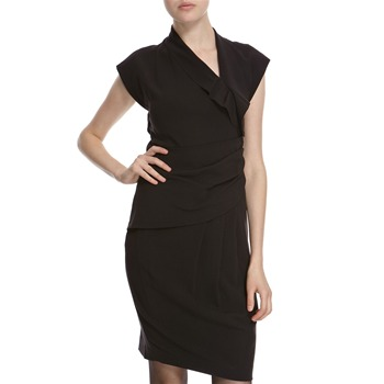 Hoss Intropia Black Open Back Panel Dress