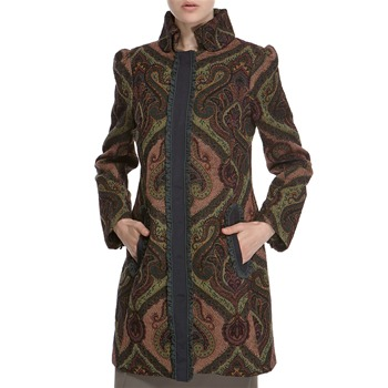 Hoss Intropia Green Paisley Patterned Tapestry Coat