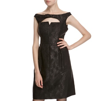Hoss Intropia Black Metallic Bow Dress
