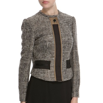 Hoss Intropia Grey/Bronze Silk/Wool Blend Jacket