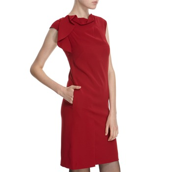 Hoss Intropia Scarlet Drape Front Dress