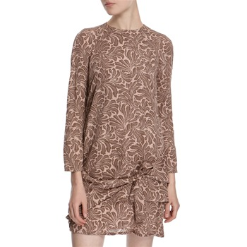 Hoss Intropia Dusty Pink Leaf Print Silk Dress