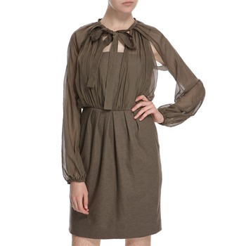 Hoss Intropia Khaki Silk Blend Dress