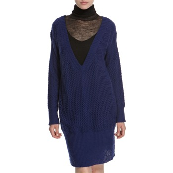 Hoss Intropia Indigo Oversized V-Neck Jumper