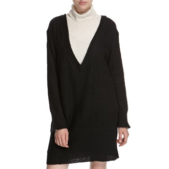 Hoss Intropia Black Oversized V-Neck Jumper