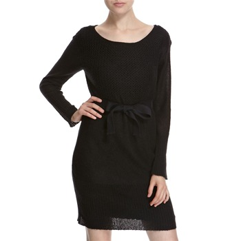 Hoss Intropia Black Mohair Blend Belted Dress