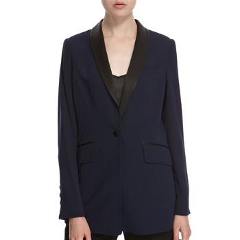 Hoss Intropia Navy/Black Single Button Blazer