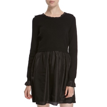 Hoss Intropia Black Merino Wool/Silk Dress