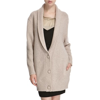 Hoss Intropia Oatmeal Wool Blend Shawl Collar Cardigan