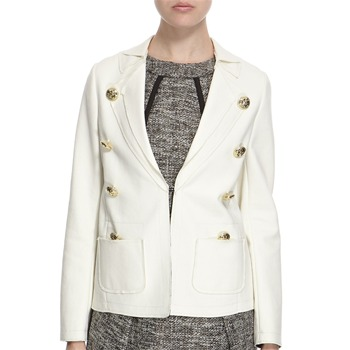 Hoss Intropia Ivory Cotton Blend Nautical Cotton Blazer