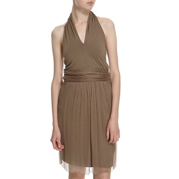 Hoss Intropia Mink Layered Halter Dress