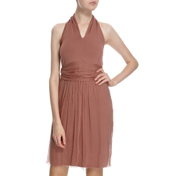 Hoss Intropia Rust Layered Halter Dress