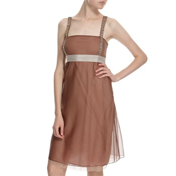 Hoss Intropia Dusty Pink Silk Diamante Embellished Dress