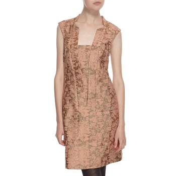 Hoss Intropia Peach/Gold Shimmer Dress