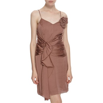 Hoss Intropia Dark Copper Spaghetti Strap Dress