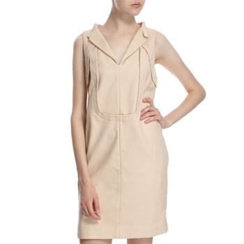 Hoss Intropia Nude Cotton Panelled Dress