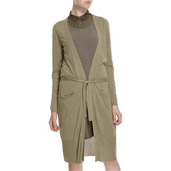 Hoss Intropia Pistachio Silk Blend Long Belted Cardigan