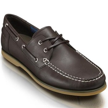 Rockport Dark Brown Leather Bonnie Boat Shoes