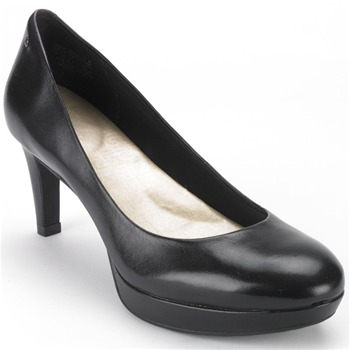 Rockport Black Leather Juliet Pumps 7.5cm Heel