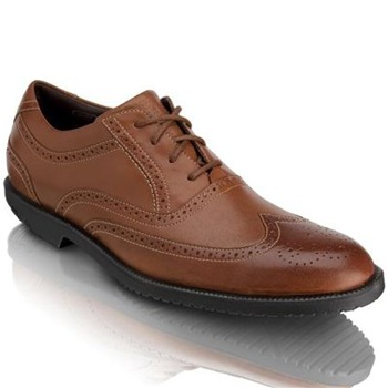 Rockport Tan Leather Dressports Wing Tip Shoes