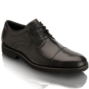 Rockport Black OC Cap Toe Leather Shoes