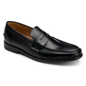 Rockport Black Leather PD Penny Loafers