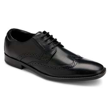 Rockport Black Leather OR Stitched Wingtip Shoes