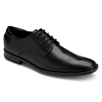 Rockport Black Leather OR Perforated Plain Toe Shoes