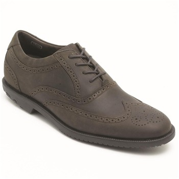 Rockport Taupe Dressports Wingtip Leather Shoes