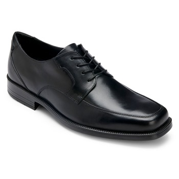 Rockport Black Leather RB Mocfront Shoes
