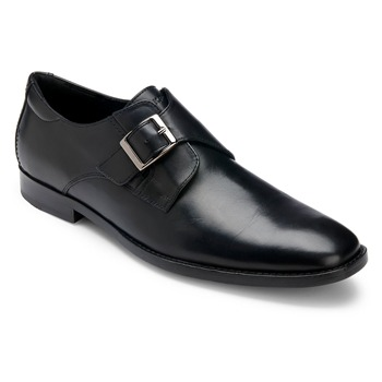 Rockport Black Leather OR Monk Strap Shoes