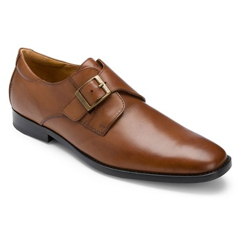 Rockport Tan Leather OR Monk Shoes