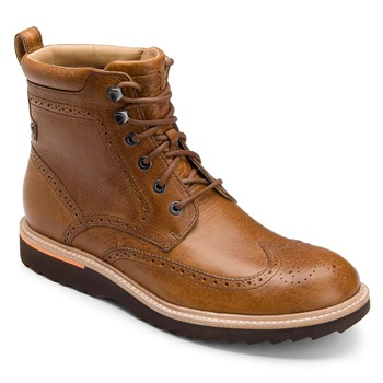 Rockport Tan Leather Union Street Wing Boots