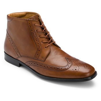 Rockport Brown Leather Wingtip Boots