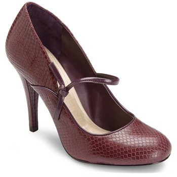 Rockport Burgundy Leather Presia Tied Shoes 9cm Heel