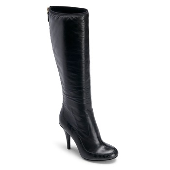 Rockport Black Leather Presia Tall Boots 9cm Heel