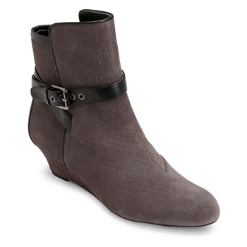 Rockport Grey Leather Alika Buckled Boots 2.5cm Heel