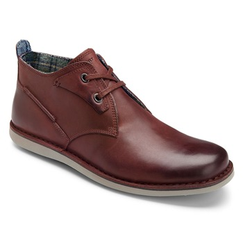 Rockport Brown Casual Leather Ankle Boots