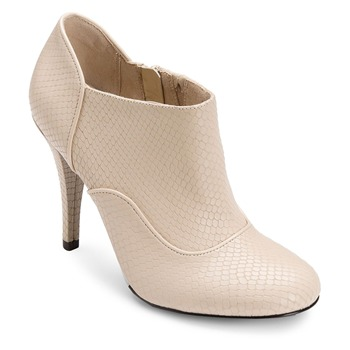 Rockport Cream Leather Presia Ankle Boots 9cm Heel