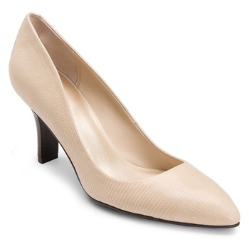 Rockport Nude Lianna Leather Retro Shoes 7cm Heel