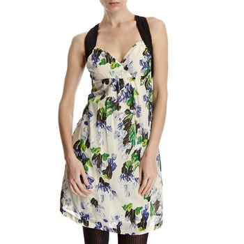 Hoss Intropia Cream/Blue Floral Cross Back Dress