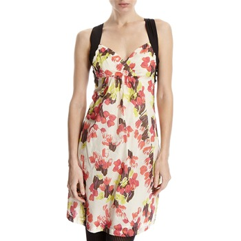 Hoss Intropia Cream/Red Floral Cross Back Dress